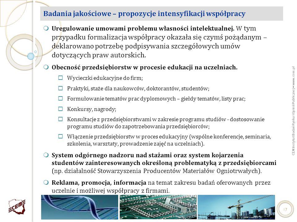 Badania jakościowe – propozycje intensyfikacji współpracy