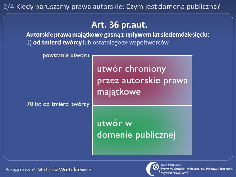 2/4 Kiedy naruszamy prawa autorskie: Czym jest domena publiczna