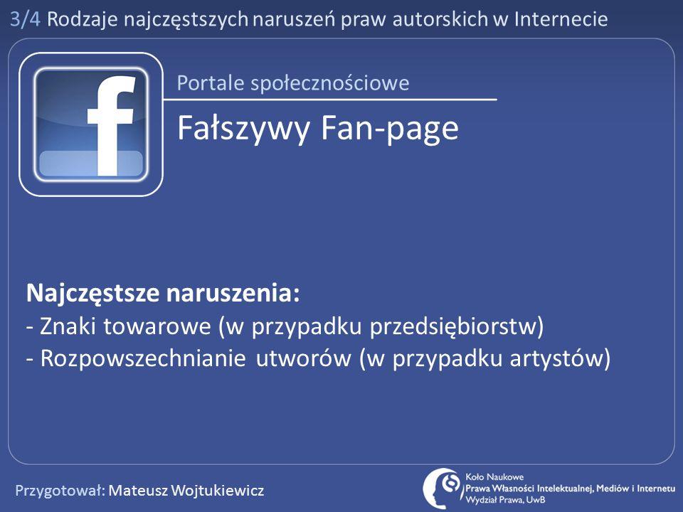 Fałszywy Fan-page Najczęstsze naruszenia: