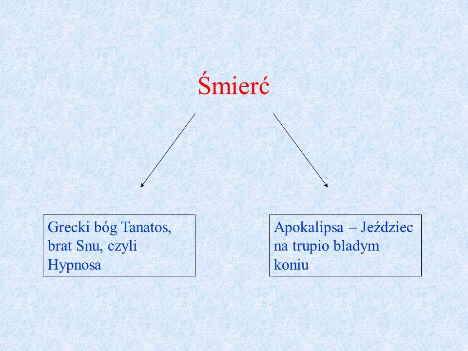 Śmierć Grecki bóg Tanatos, brat Snu, czyli Hypnosa