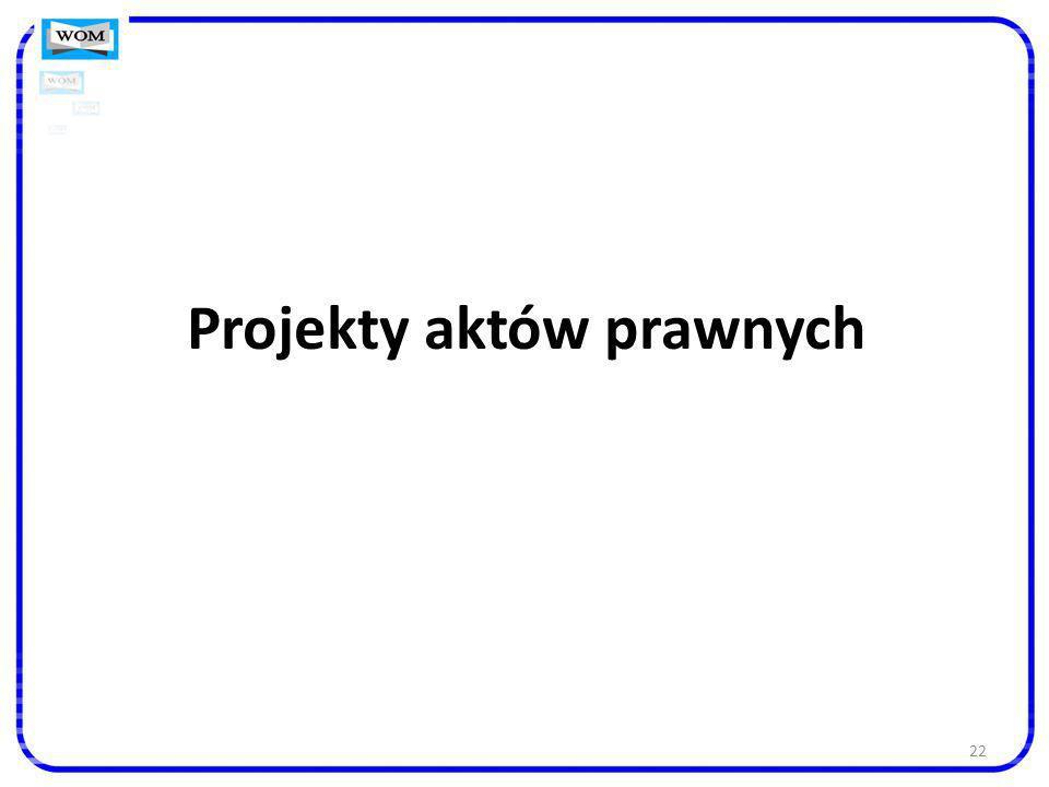 Projekty aktów prawnych