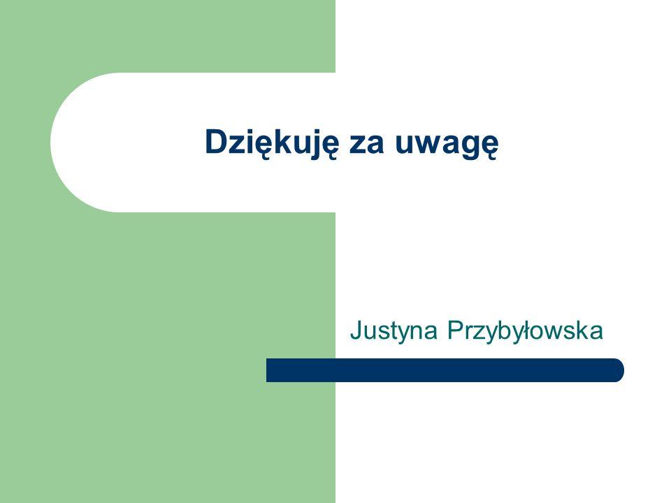 Dziękuję za uwagę Justyna Przybyłowska