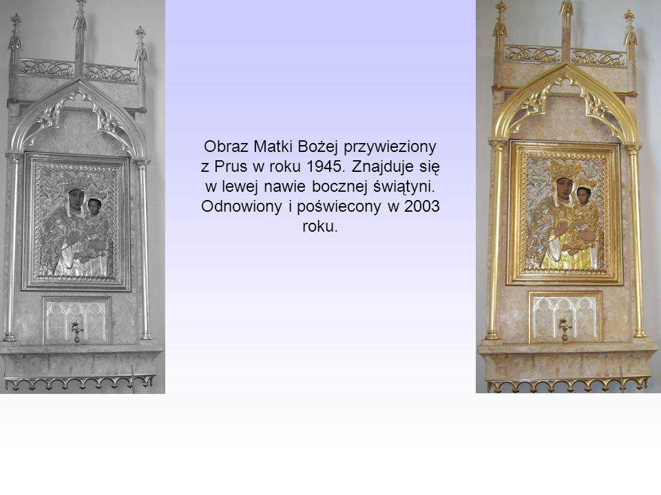 Obraz Matki Bożej przywieziony z Prus w roku 1945