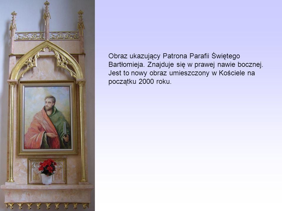 Obraz ukazujący Patrona Parafii Świętego Bartłomieja