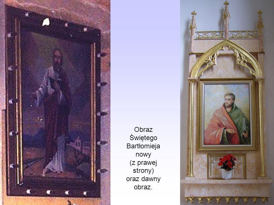 Obraz Świętego Bartłomieja nowy (z prawej strony) oraz dawny obraz.
