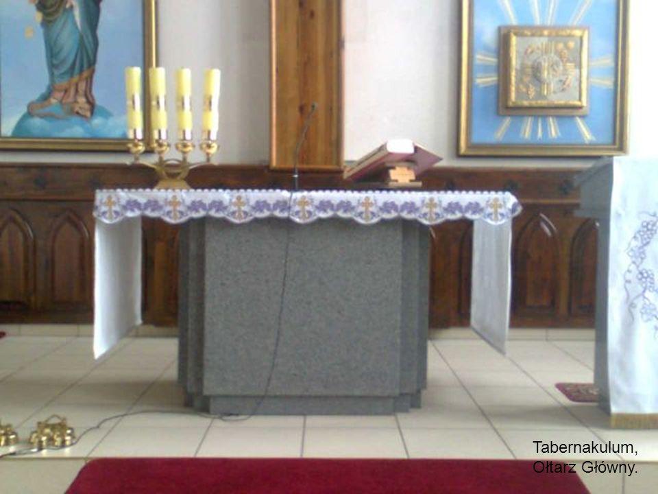 Tabernakulum, Ołtarz Główny.