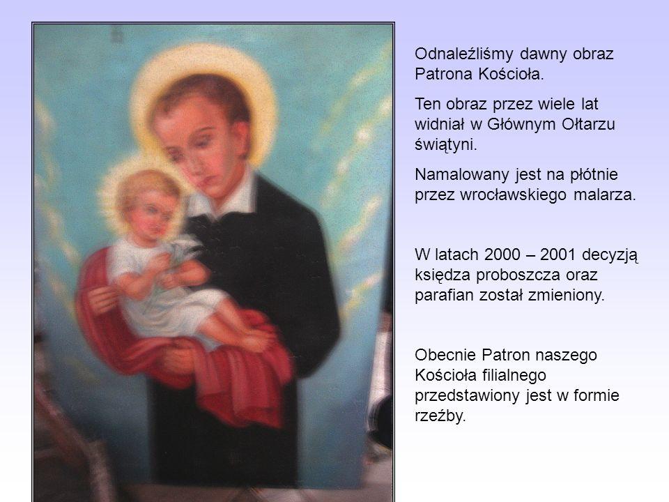 Odnaleźliśmy dawny obraz Patrona Kościoła.