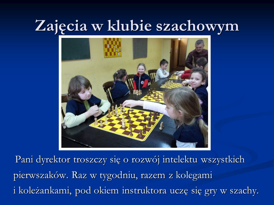 Zajęcia w klubie szachowym