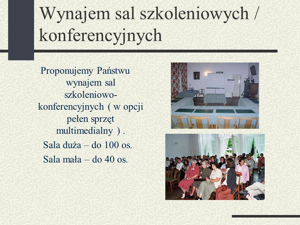 Wynajem sal szkoleniowych / konferencyjnych