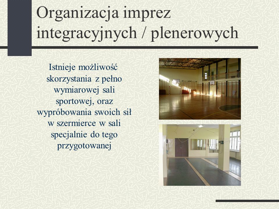 Organizacja imprez integracyjnych / plenerowych