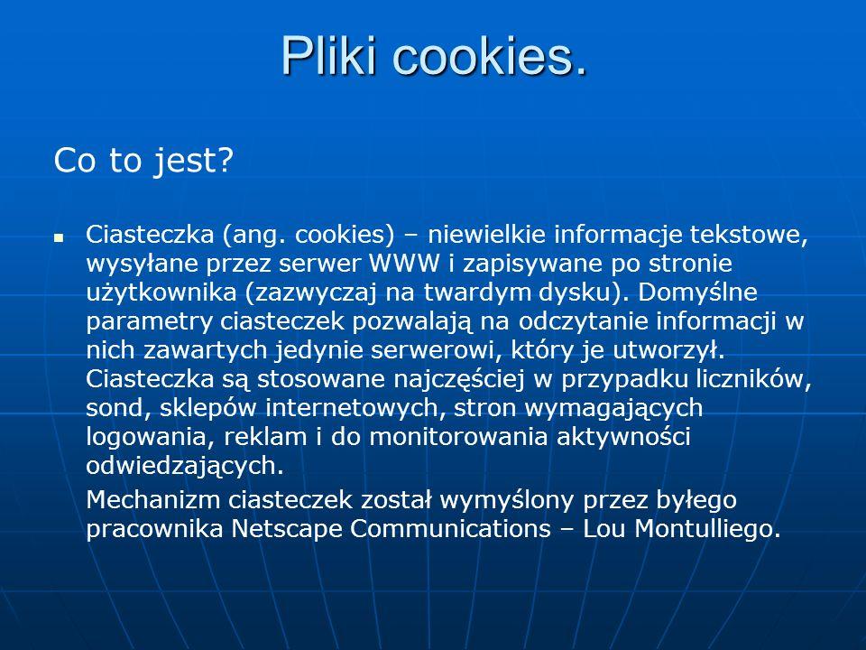 Pliki cookies. Co to jest