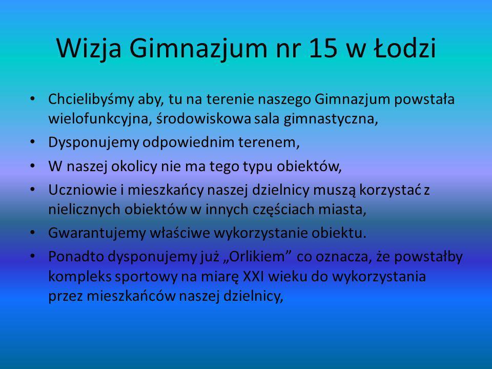 Wizja Gimnazjum nr 15 w Łodzi