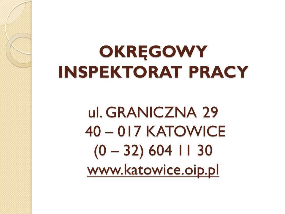 OKRĘGOWY INSPEKTORAT PRACY ul