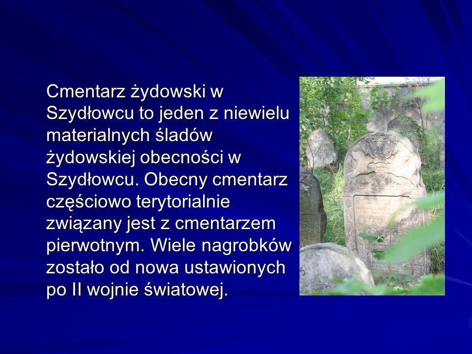 Cmentarz żydowski w Szydłowcu to jeden z niewielu materialnych śladów żydowskiej obecności w Szydłowcu.