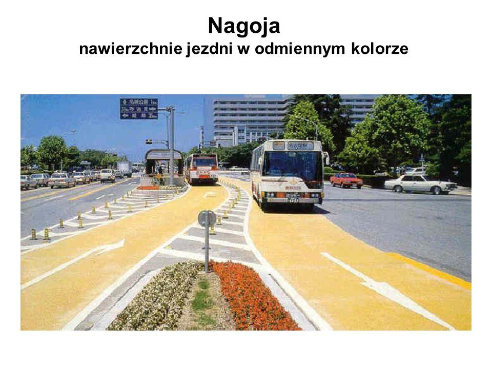 Nagoja nawierzchnie jezdni w odmiennym kolorze