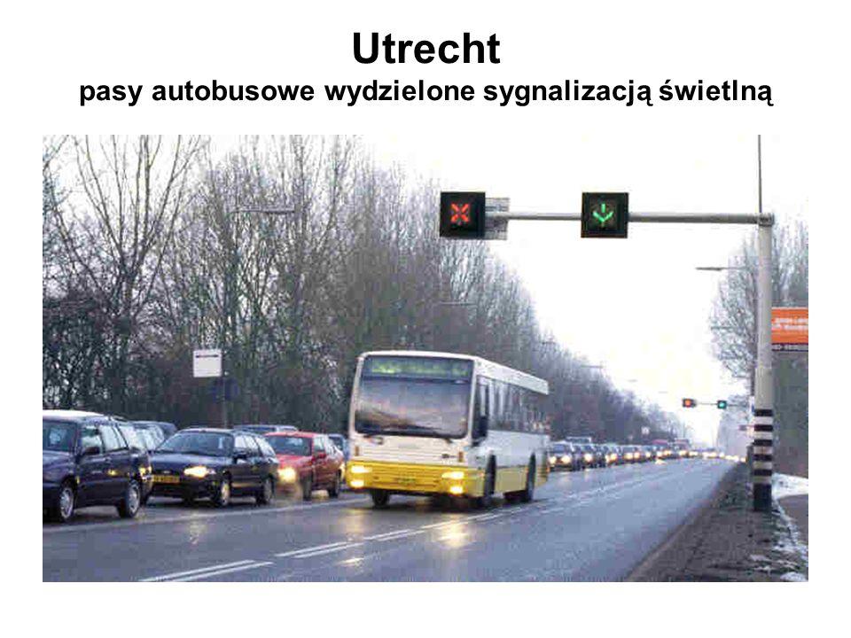 Utrecht pasy autobusowe wydzielone sygnalizacją świetlną