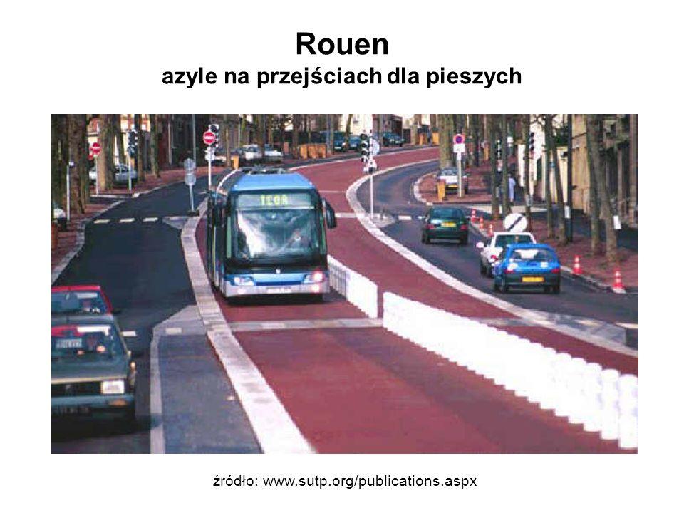 Rouen azyle na przejściach dla pieszych