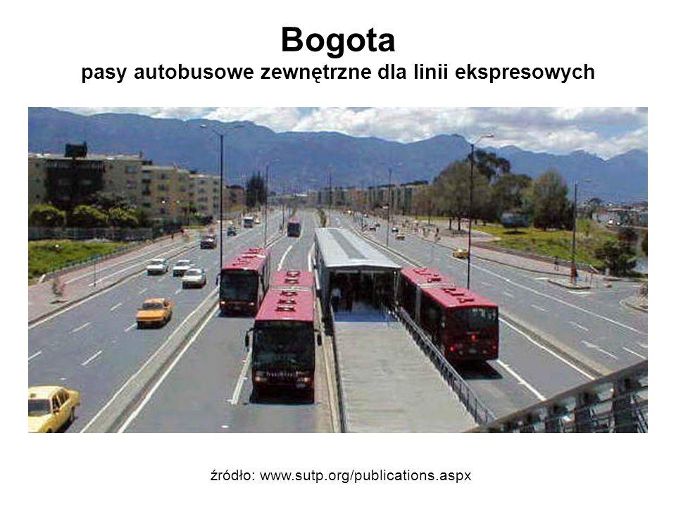 Bogota pasy autobusowe zewnętrzne dla linii ekspresowych