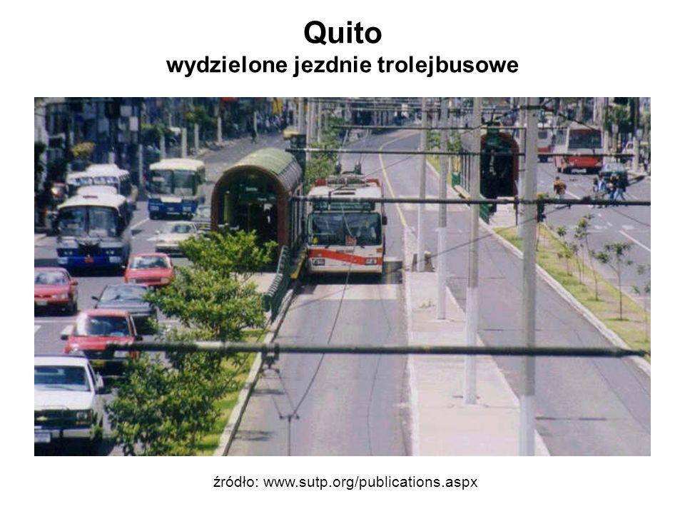 Quito wydzielone jezdnie trolejbusowe