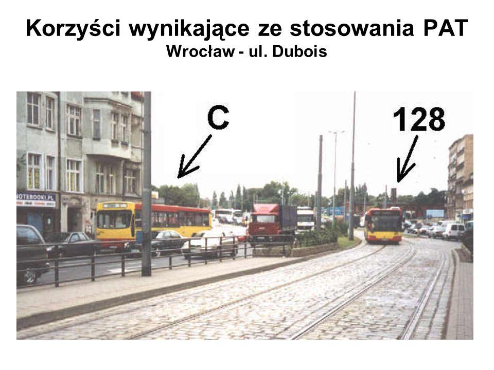 Korzyści wynikające ze stosowania PAT Wrocław - ul. Dubois