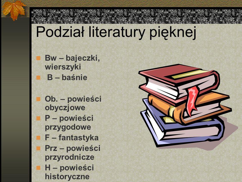 Podział literatury pięknej