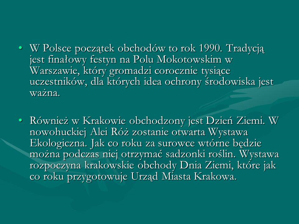 W Polsce początek obchodów to rok 1990
