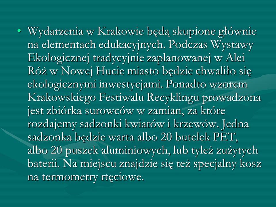 Wydarzenia w Krakowie będą skupione głównie na elementach edukacyjnych