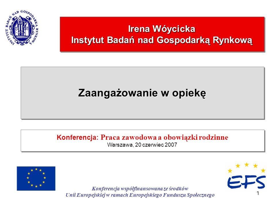 Irena Wóycicka Instytut Badań nad Gospodarką Rynkową