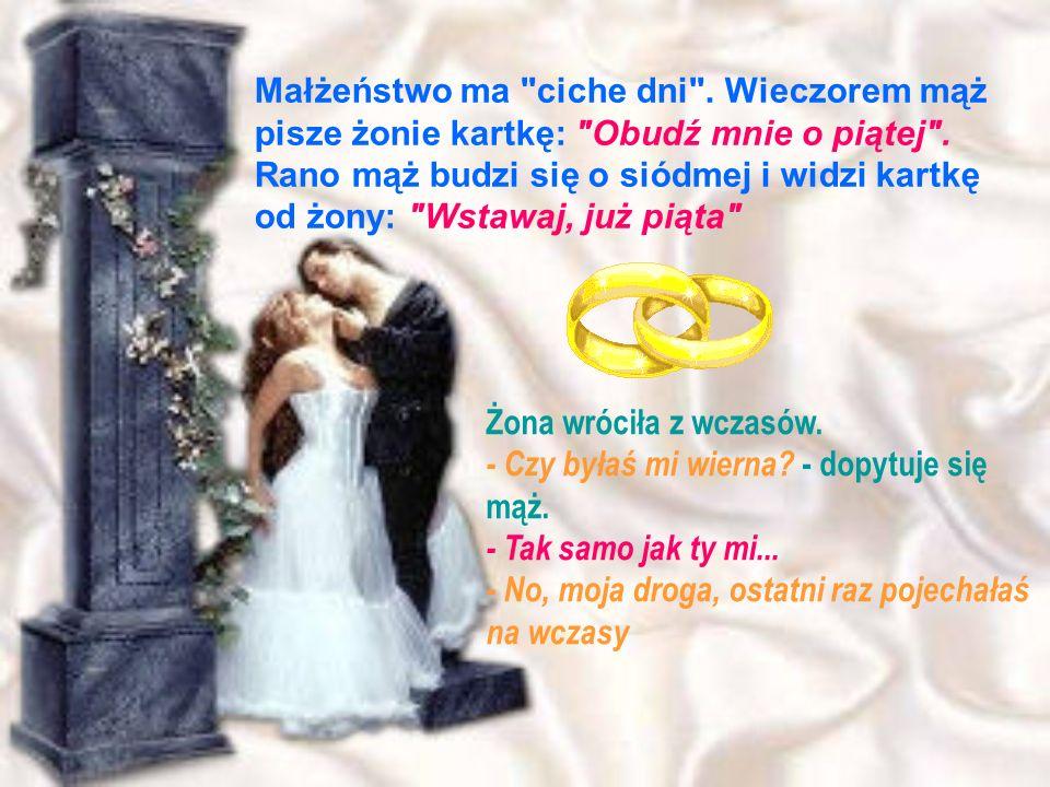 Małżeństwo ma ciche dni