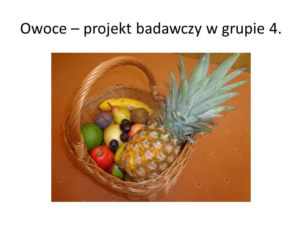Owoce – projekt badawczy w grupie 4.