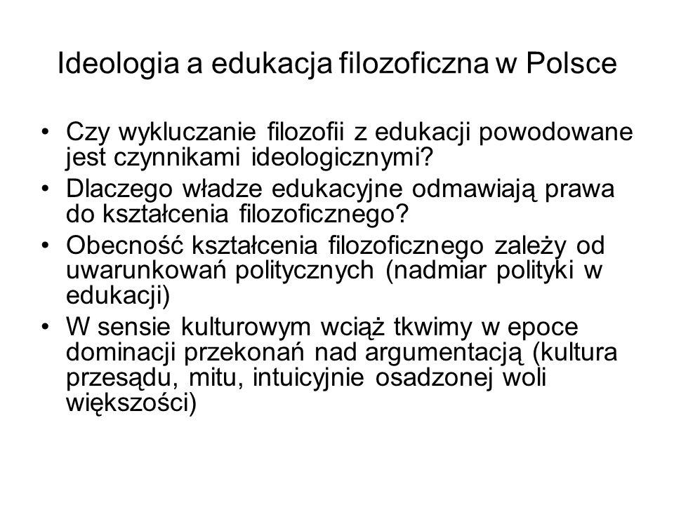 Ideologia a edukacja filozoficzna w Polsce