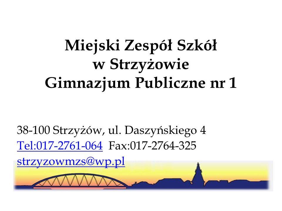 Miejski Zespół Szkół w Strzyżowie Gimnazjum Publiczne nr 1