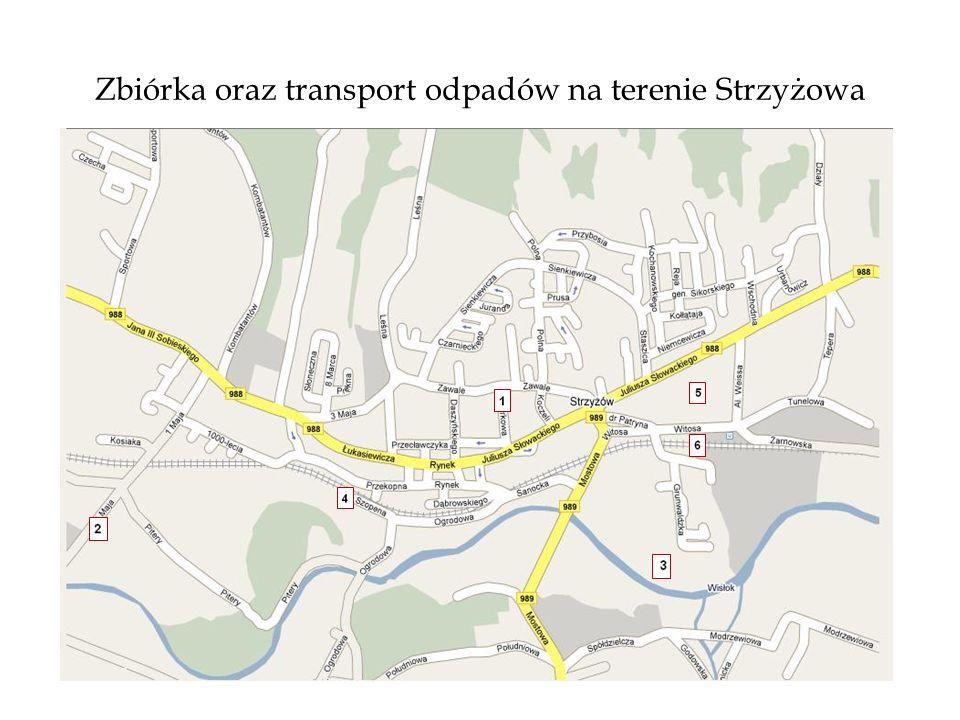 Zbiórka oraz transport odpadów na terenie Strzyżowa