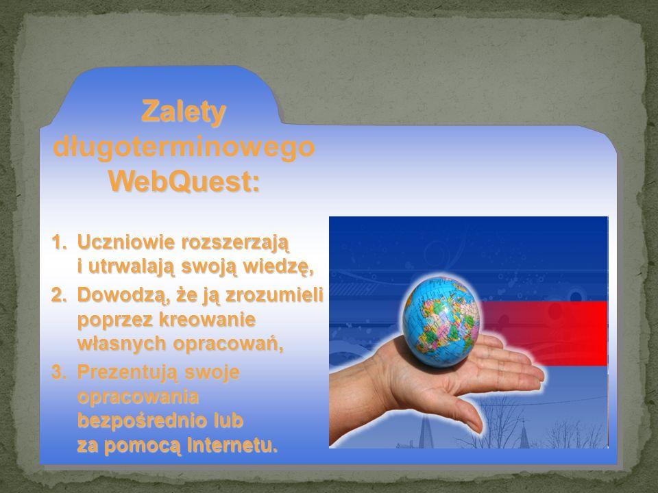 Zalety długoterminowego WebQuest: