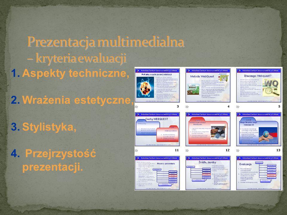 Prezentacja multimedialna – kryteria ewaluacji