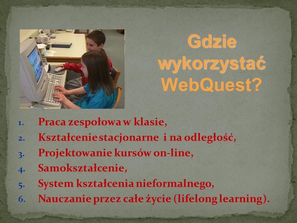 Gdzie wykorzystać WebQuest