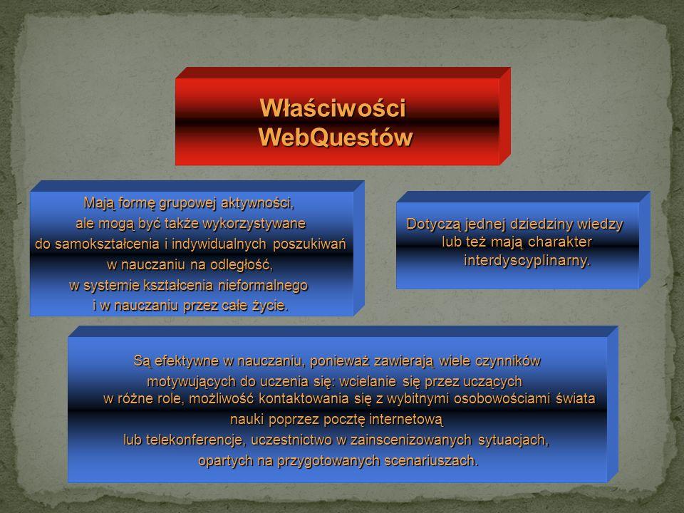 Właściwości WebQuestów