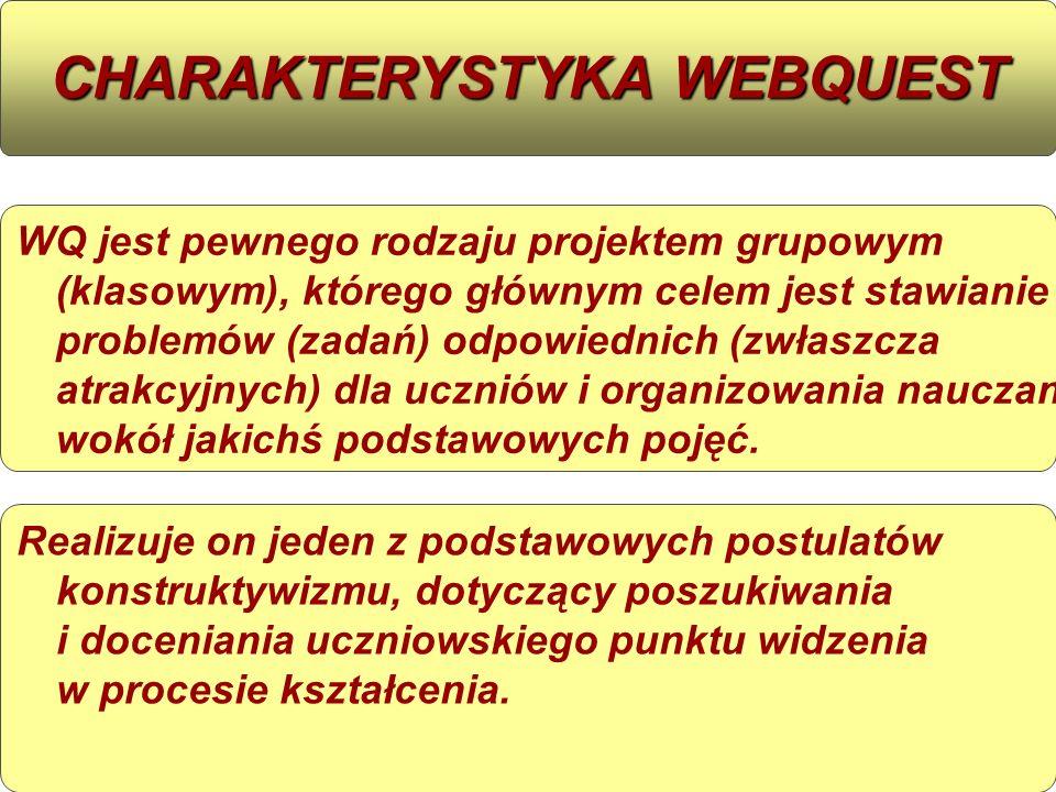 CHARAKTERYSTYKA WEBQUEST