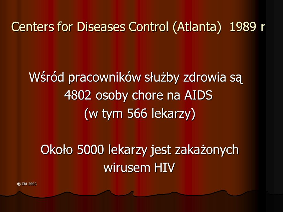 Centers for Diseases Control (Atlanta) 1989 r
