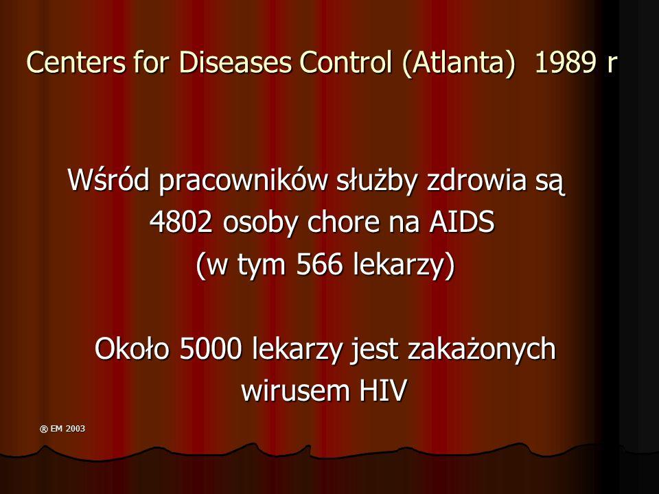 Centers for Diseases Control (Atlanta) 1989 r
