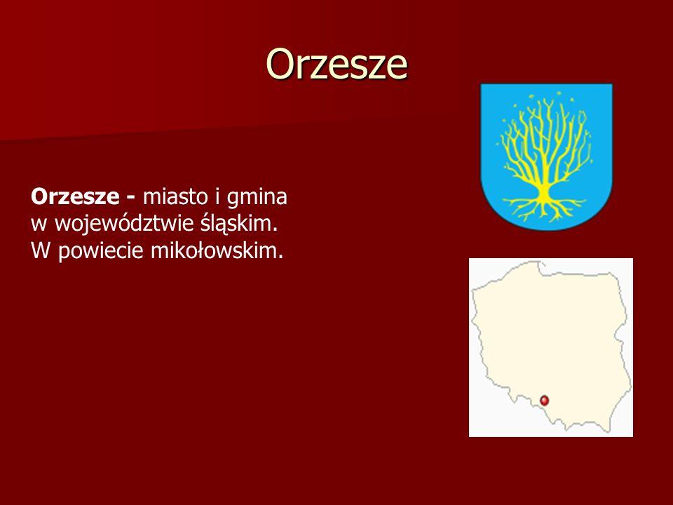 Orzesze Orzesze - miasto i gmina w województwie śląskim. W powiecie mikołowskim.