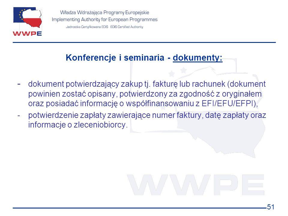 Konferencje i seminaria - dokumenty:
