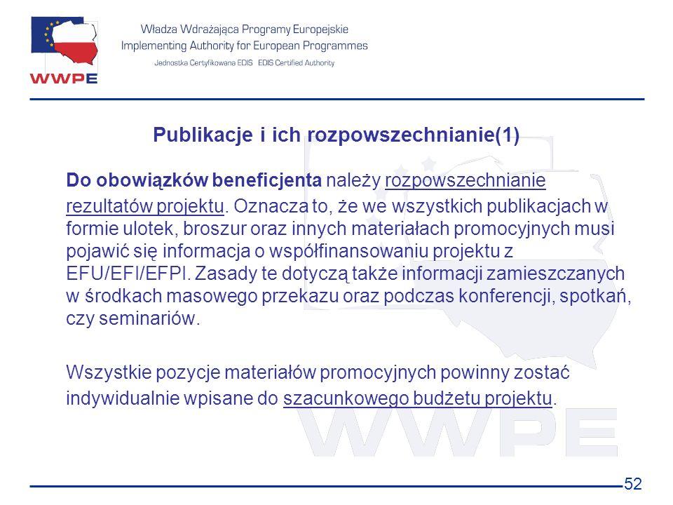 Publikacje i ich rozpowszechnianie(1)