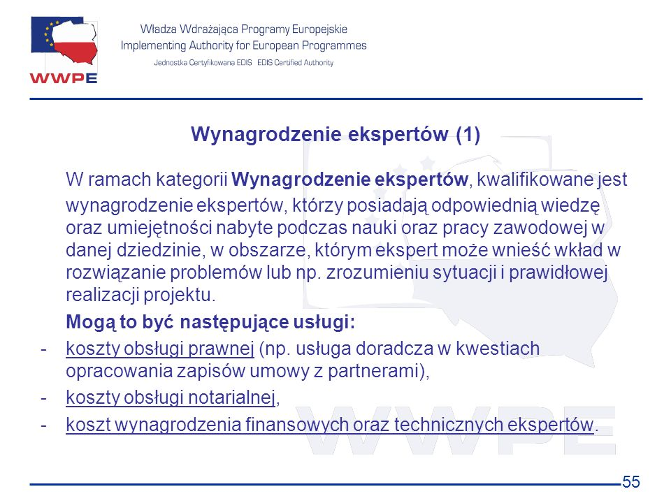 Wynagrodzenie ekspertów (1)