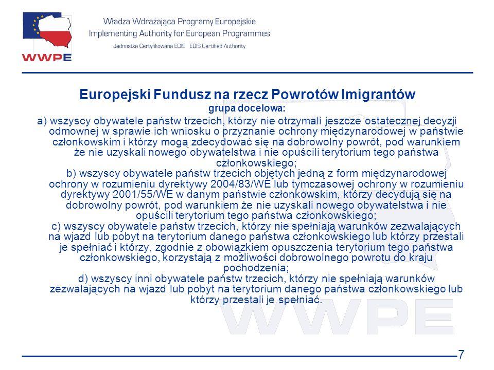 Europejski Fundusz na rzecz Powrotów Imigrantów