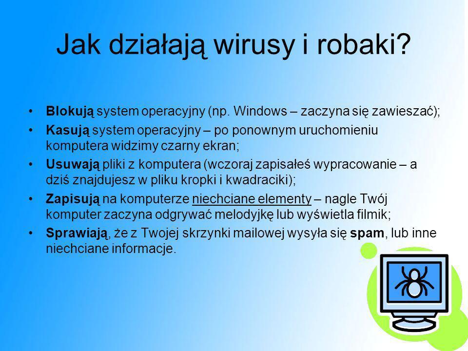 Jak działają wirusy i robaki