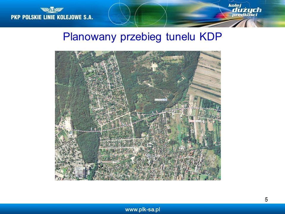 Planowany przebieg tunelu KDP