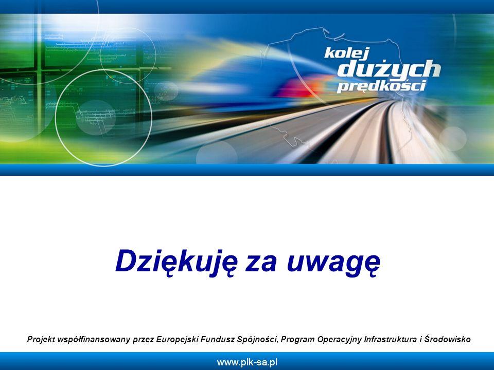 Dziękuję za uwagę Projekt współfinansowany przez Europejski Fundusz Spójności, Program Operacyjny Infrastruktura i Środowisko.