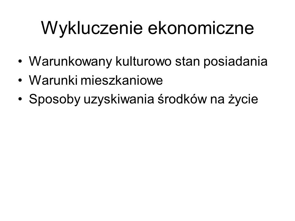 Wykluczenie ekonomiczne