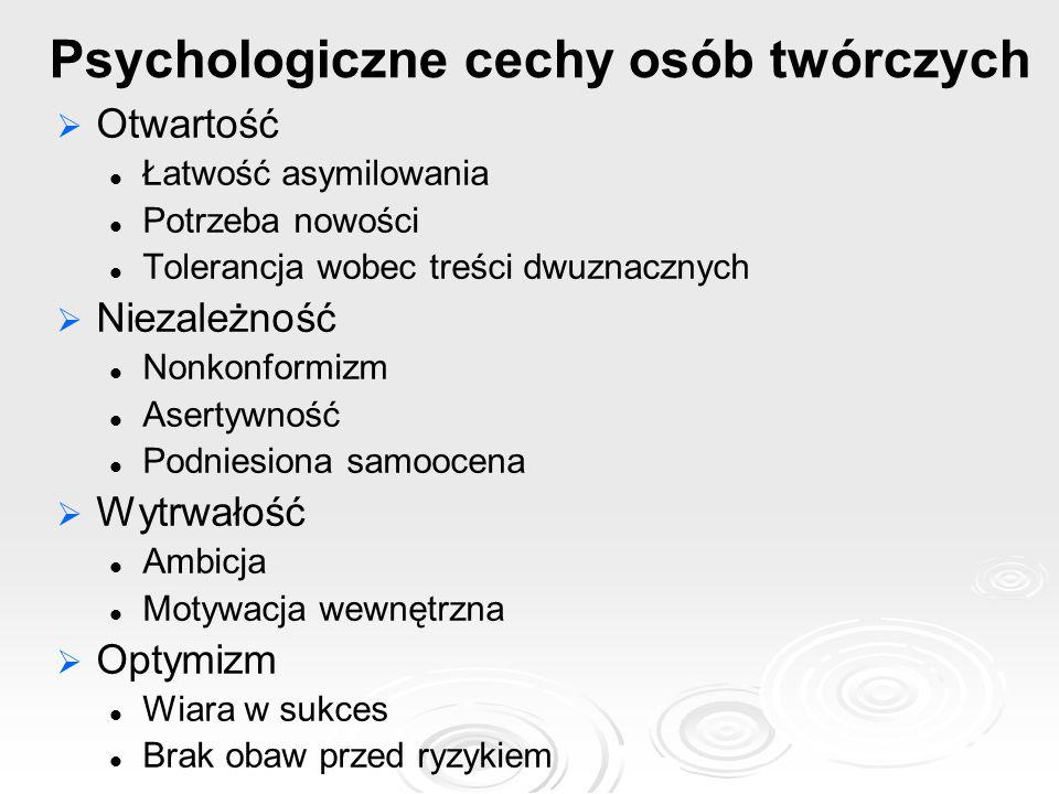 Psychologiczne cechy osób twórczych